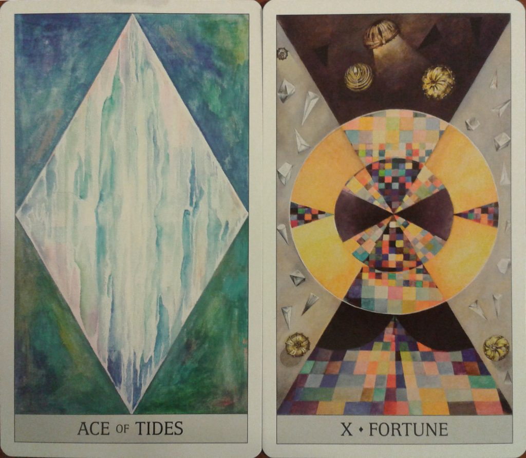 The Ace of Tides and Fortune from the Japaridze Tarot by Nino Japaridze, published by US Games Systems.