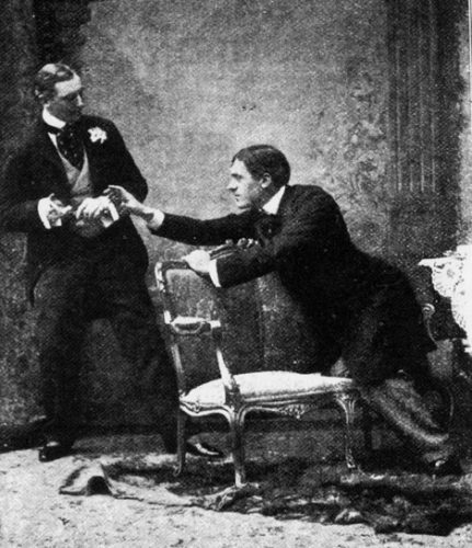 Jack reaches to retrieve his cigarette case in The Importance of Being Earnest