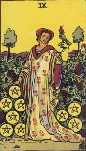 The Nine of Pentacles: Venus in Virgo is its astrological correspondence.