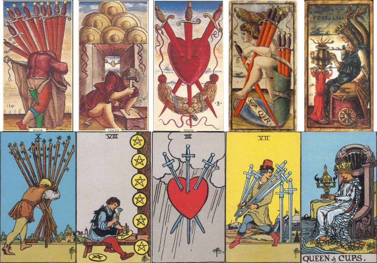 The third tarot lineage is fully illustrated or scenic decks. Read fully illustrated or scenic decks like a picture book.