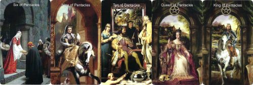 Tarot Cards that represent wealth, abundance, and money