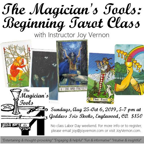 Magician's Tools Beginning Tarot Class Fall 2019