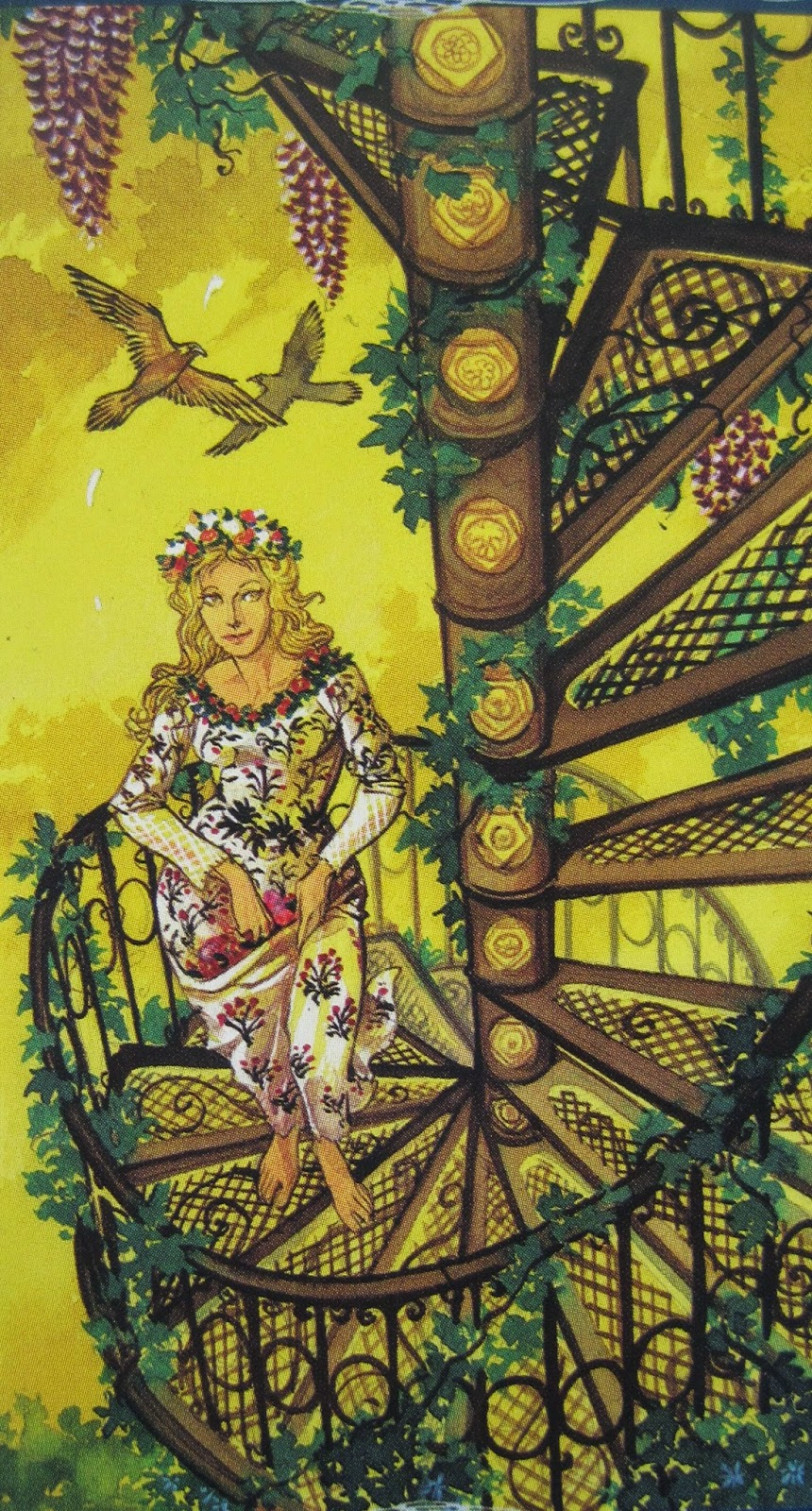 Tarot of the Mystic Spiral. Sometimes the Nine of Pentacles: Venus in Virgo represents doing work that you enjoy.
