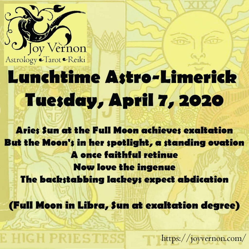 April 7, 2020, Full Moon in Libra Astrolimerick