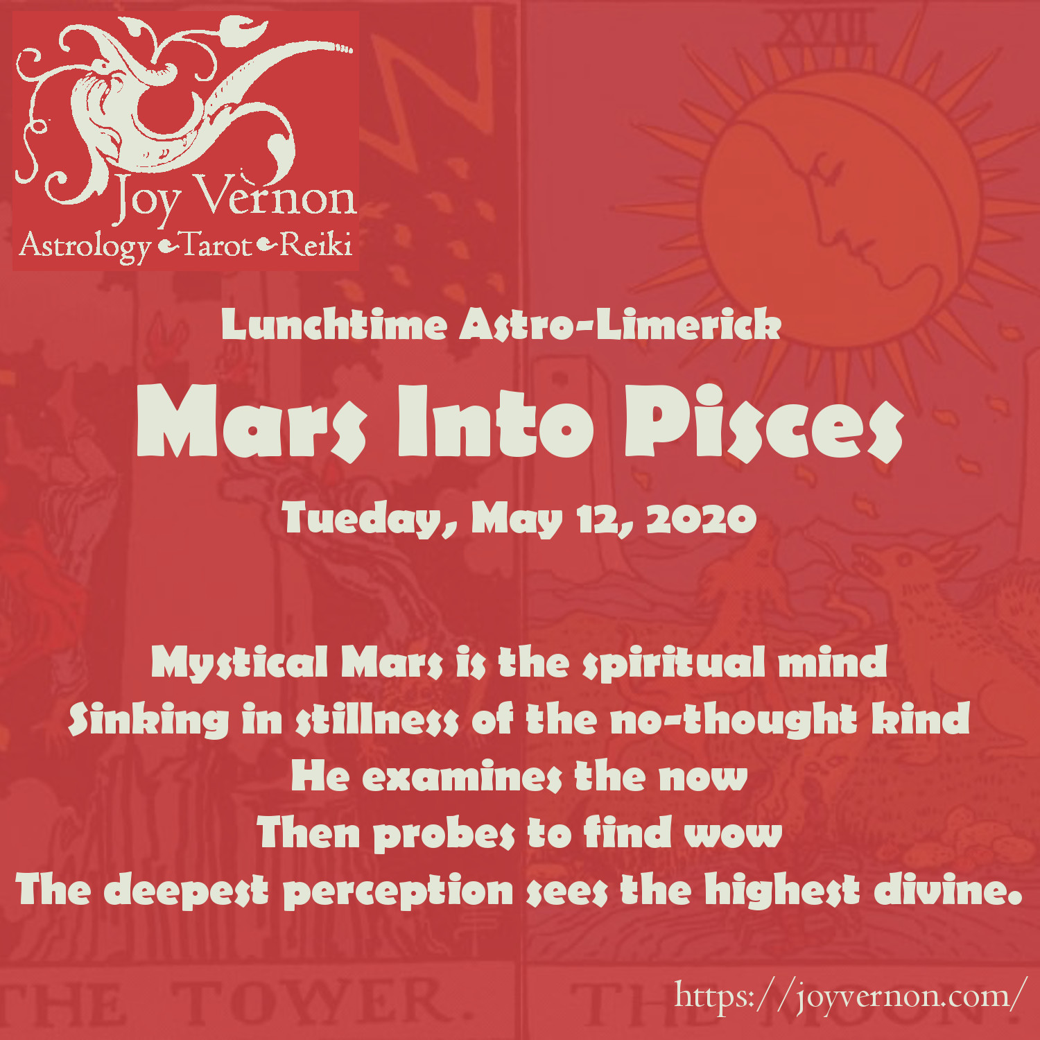 Mars gains a mystical mindset in Pisces, a desire for enlightenment. Today's #lunchtimeastrolimerick explores the spiritual essence of Mars in Pisces 2020.