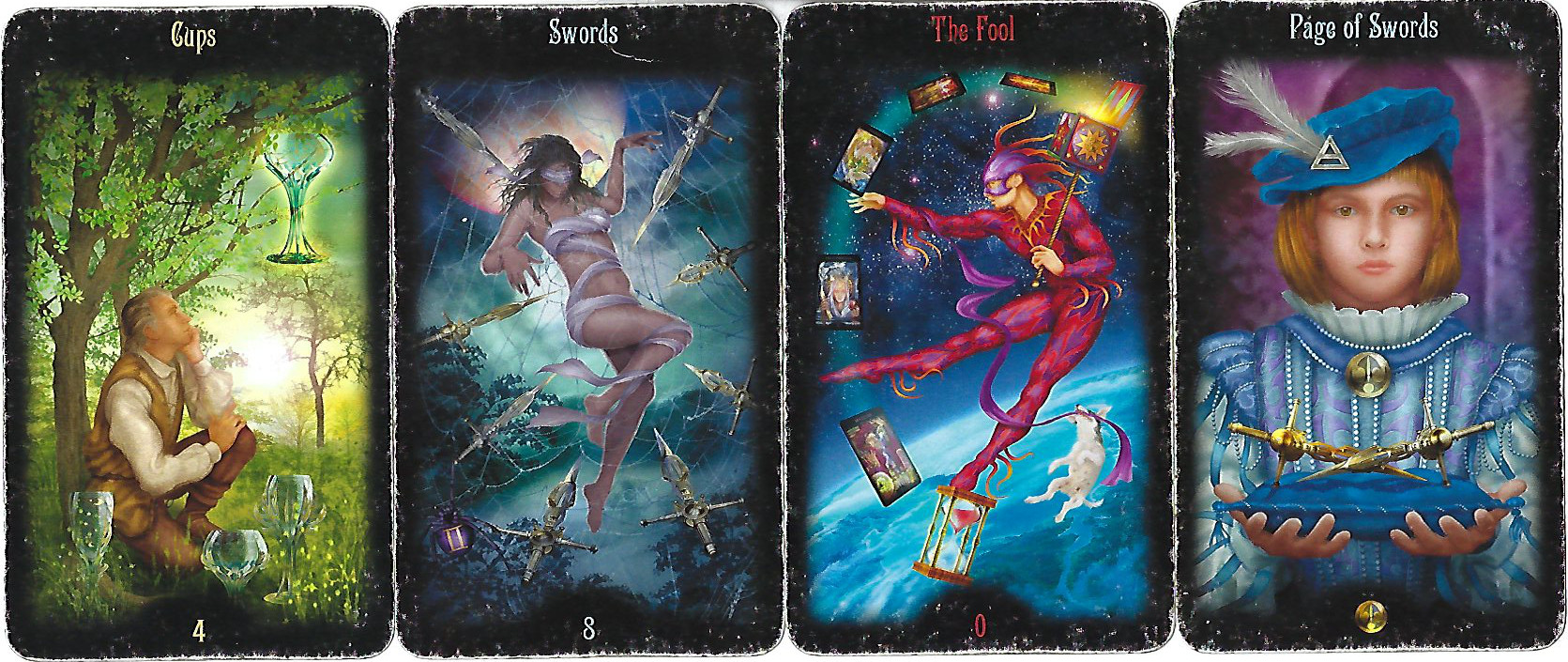 By paying close attention to the details of the images, such as these from the Legacy of the Divine Tarot, we can develop tarot keywords specific to your deck.