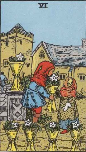 Six of Cups from Rider-Waite-Smith tarot