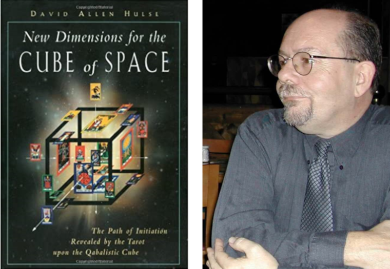 Hulse's New Dimensions for the Cube of Space and headshot of David Allen Hulse